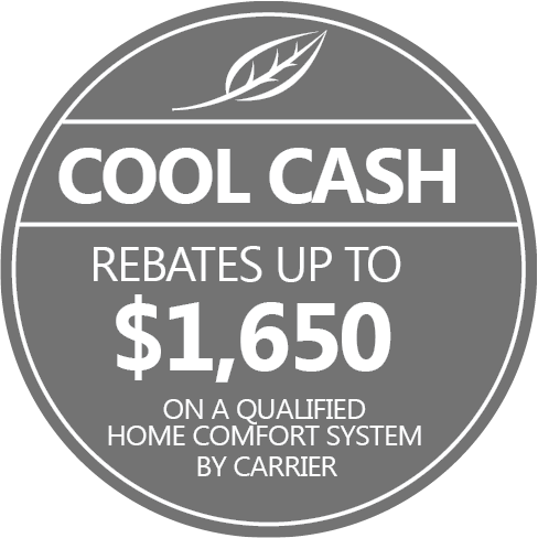 Save big with cool cash rebates on a new carrier system