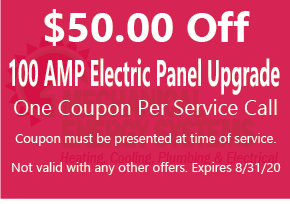 $50.00 Off 100 AMP Electric Panel Upgrade