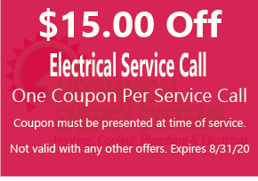 $15.00 off electrical service call
