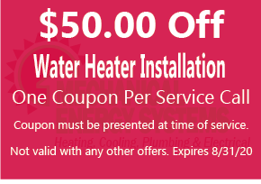 $50.00 Off Water Heater Installation